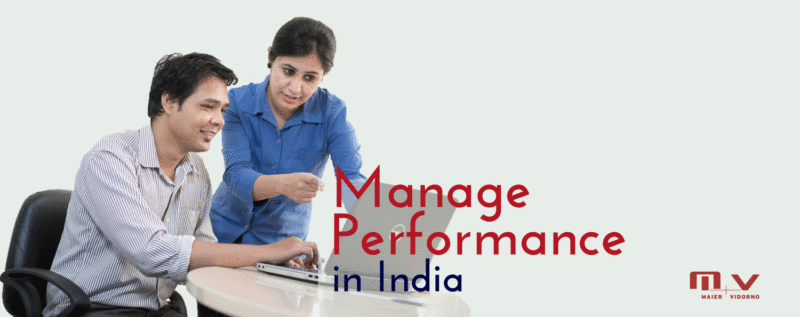 How can you manage employee performance in India-M+V Altios