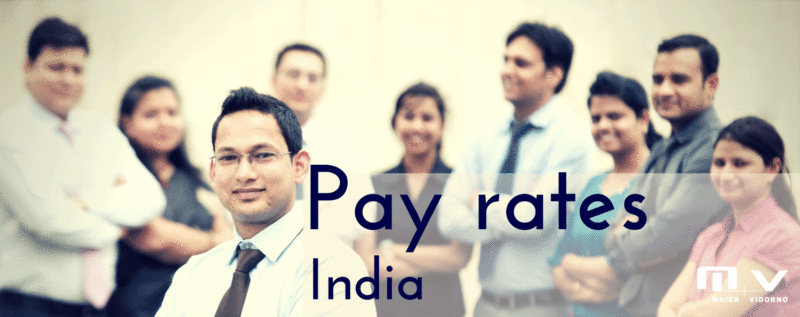 What are the average salaries in India-M+V Altios