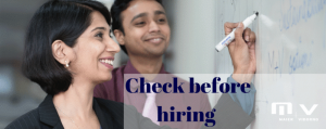 What checks should I do before hiring a new Indian employee-M+V Altios