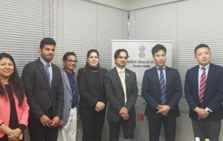 Consulate General of india at osaka with M+V