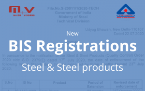 New BIS Registrations – Steel & Steel Products in India-M+V Altios