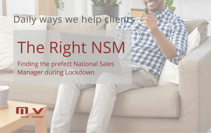 The Right NSM Finding The Perfect National Sales Manager -M+V Altios