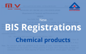 New BIS Registration – Chemical Products in India-M+V Altios
