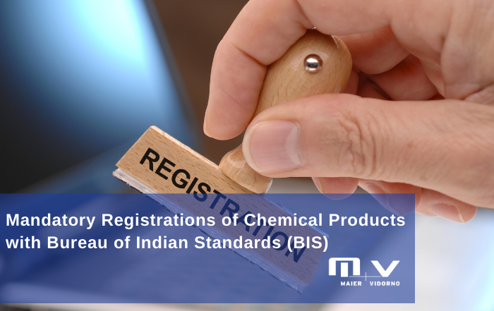 BIS Registrations mandatory for Chemical Products before 13th Dec,2020-M+V Altios