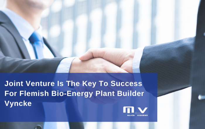 Joint Venture Is The Key To Success For Flemish Bio-Energy Plant Builder Vyncke-M+V Altios