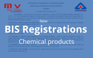 Mandatory BIS Registrations In India 2021 Chemical Products-M+V Altios