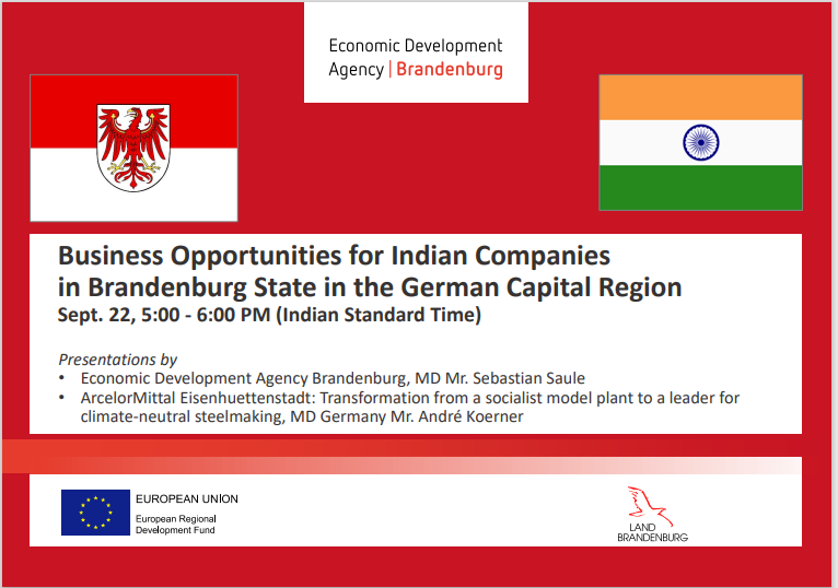 Business Opportunities for Indian Companies in Brandenburg