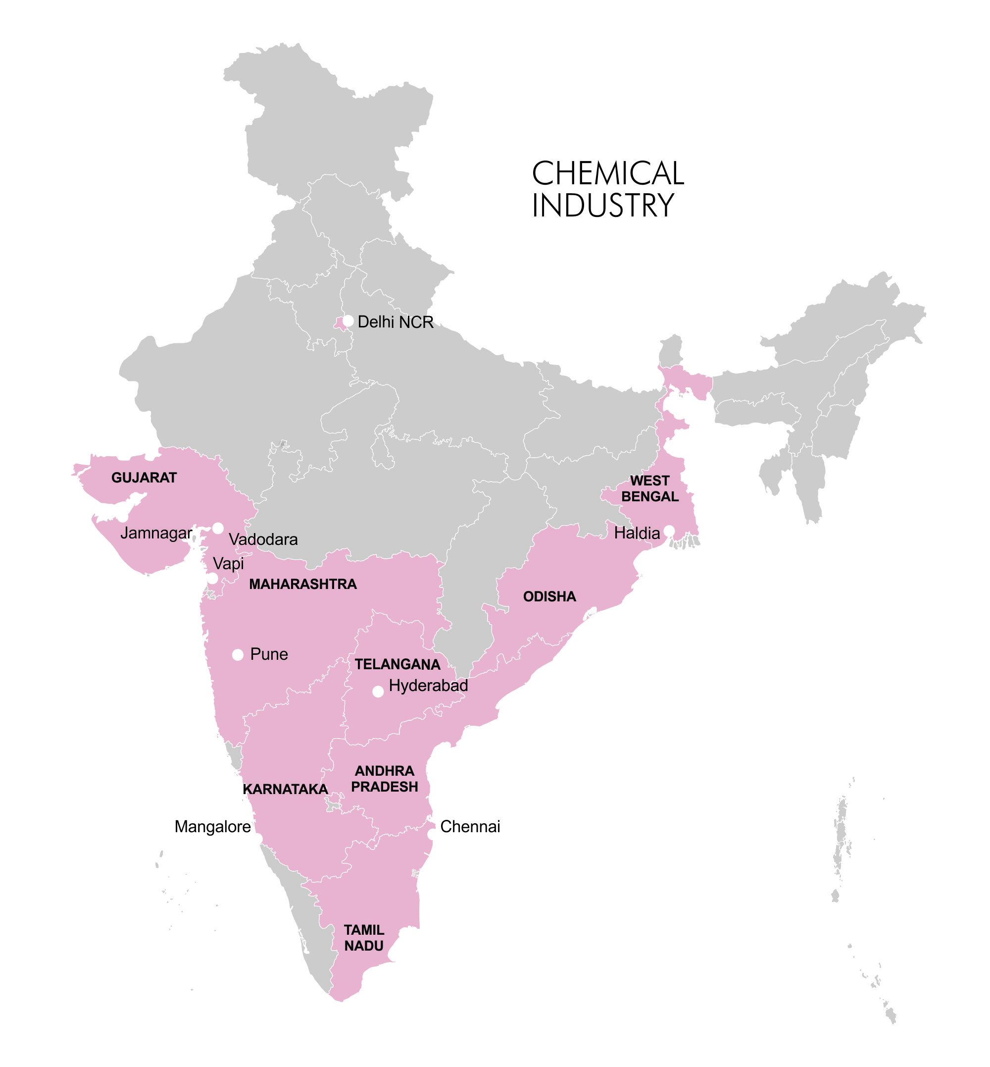 Map- Industry Clusters - Chemical