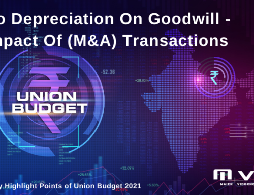No Depreciation on Goodwill – Impact of Merger & Acquisition (M&A) transactions