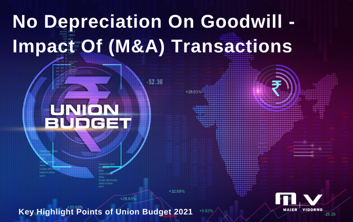 No Depreciation on Goodwill - Impact of Merger & Acquisition (M&A) transactions