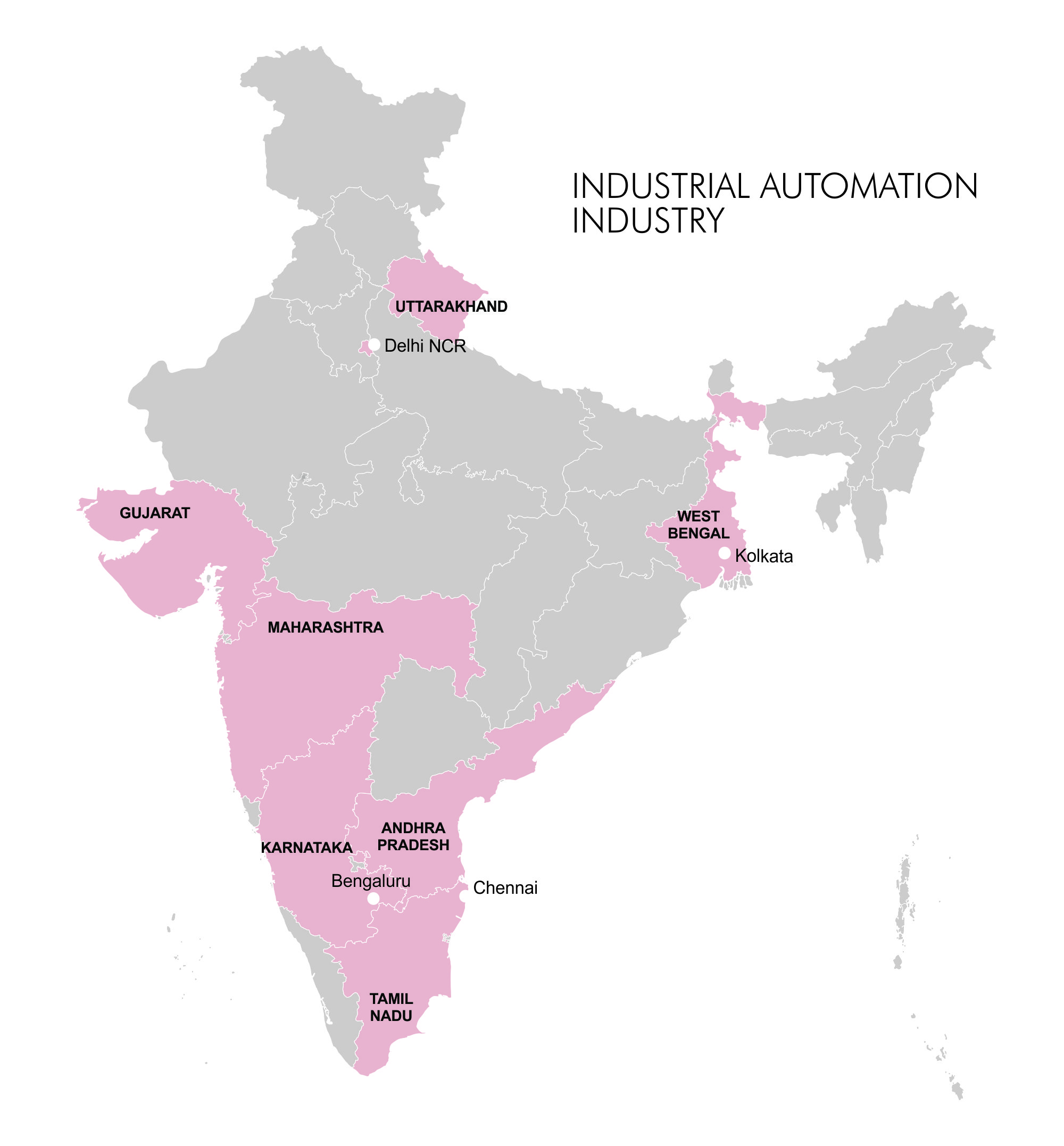 Map-Clusters - Industrial Automation Industry