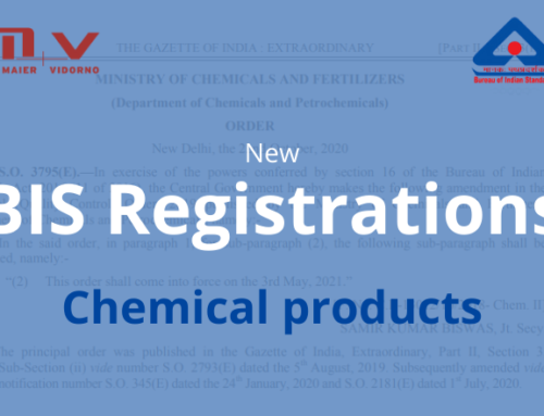 New BIS Registration – Chemical Products in India