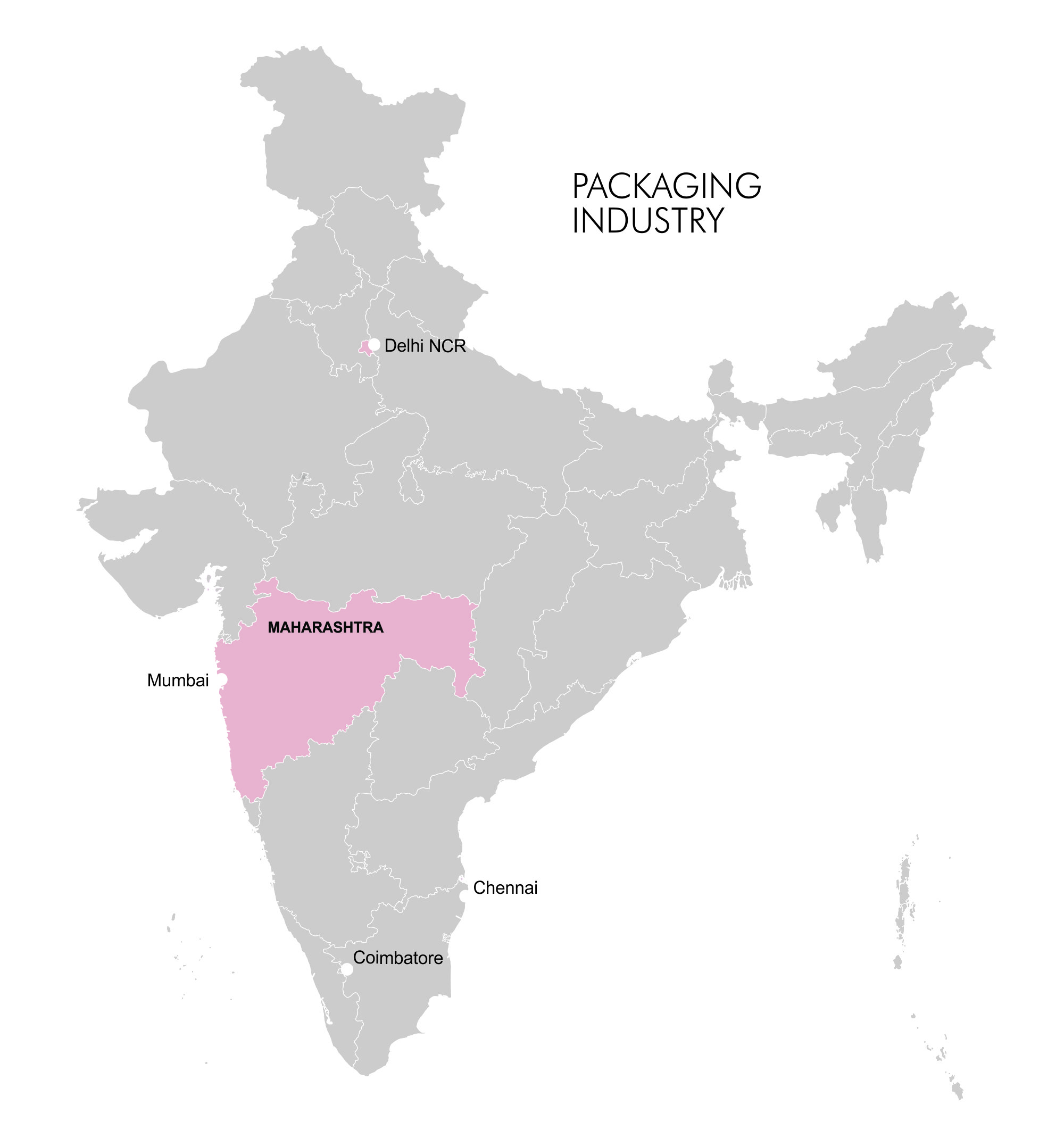 Map- Clusters - Packaging Industry
