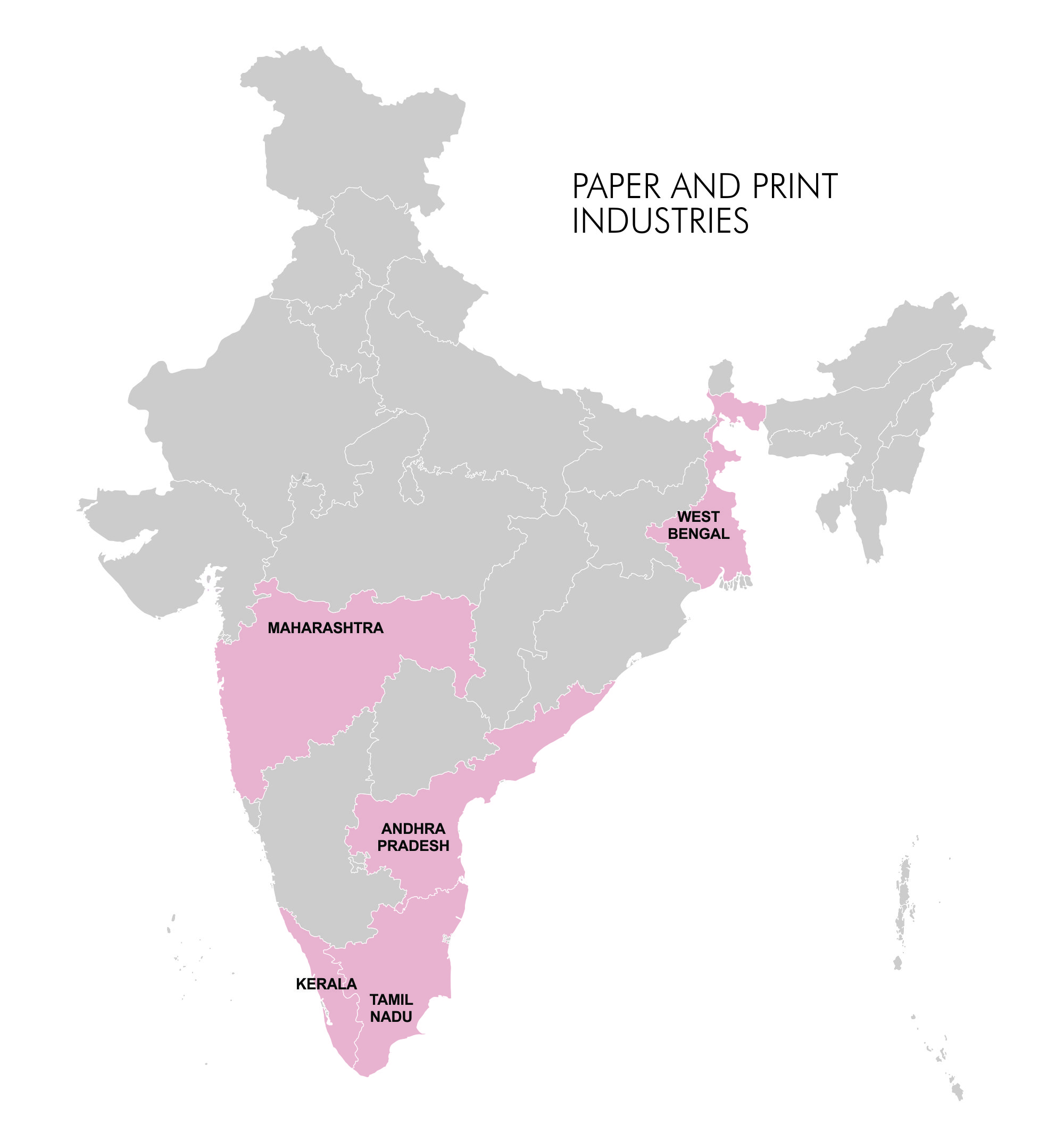 Map- Industry Clusters - Paper and Print
