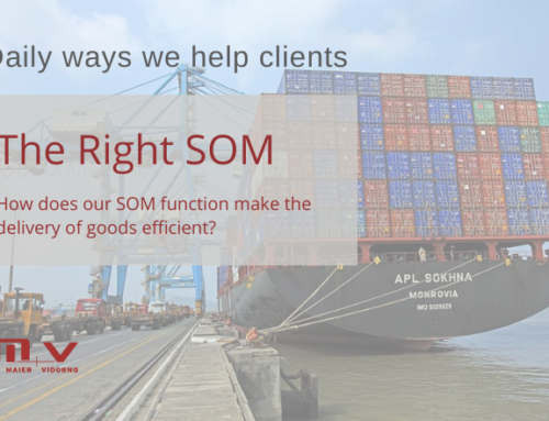 SOM function make the delivery of goods efficient, but how?