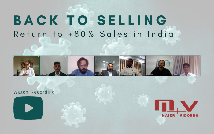 Sales in India at the previous year's level despite COVID