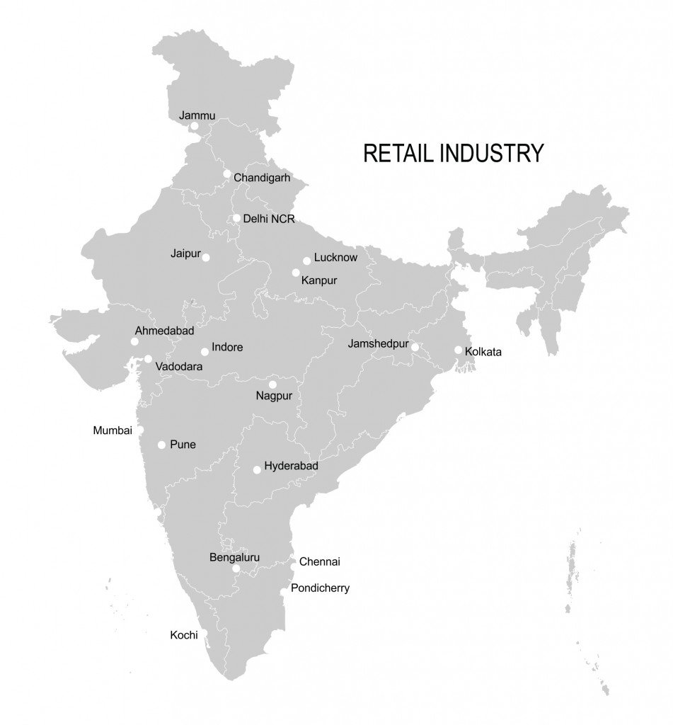 Retail Industry Map India